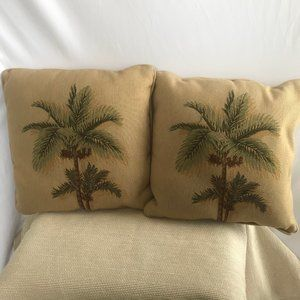 Other - Pair of Palm Trees on Yellow Background Both Sides